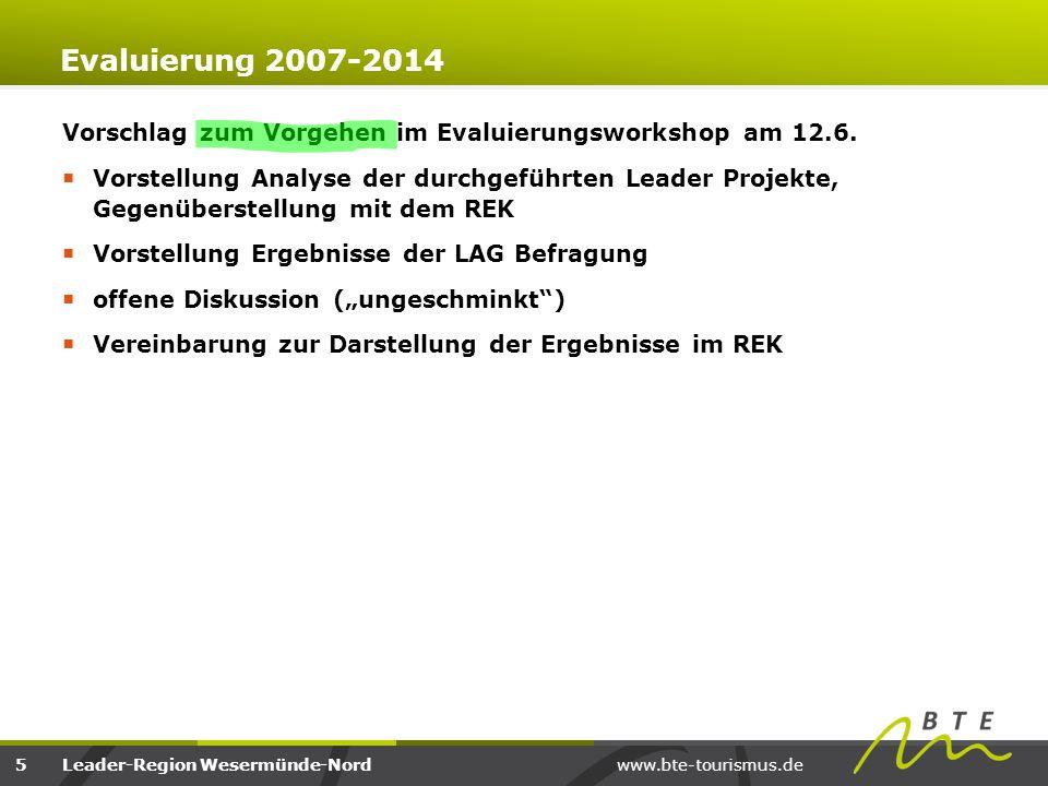 Evaluierung 2007-2014 Vorschlag zum Vorgehen im Evaluierungsworkshop am 12.6.