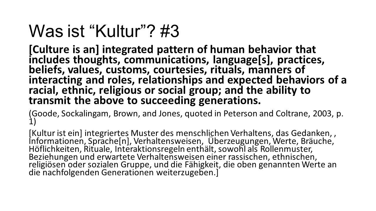Was ist Kultur #3