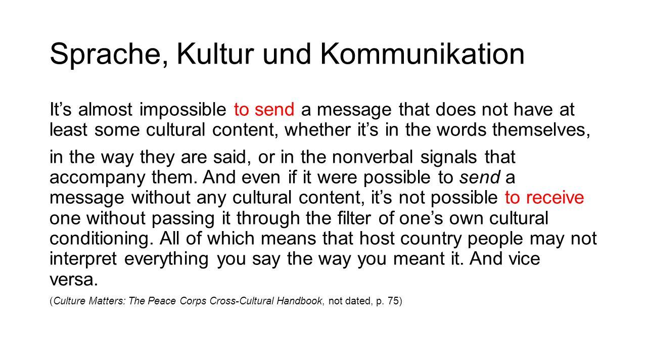 Sprache, Kultur und Kommunikation