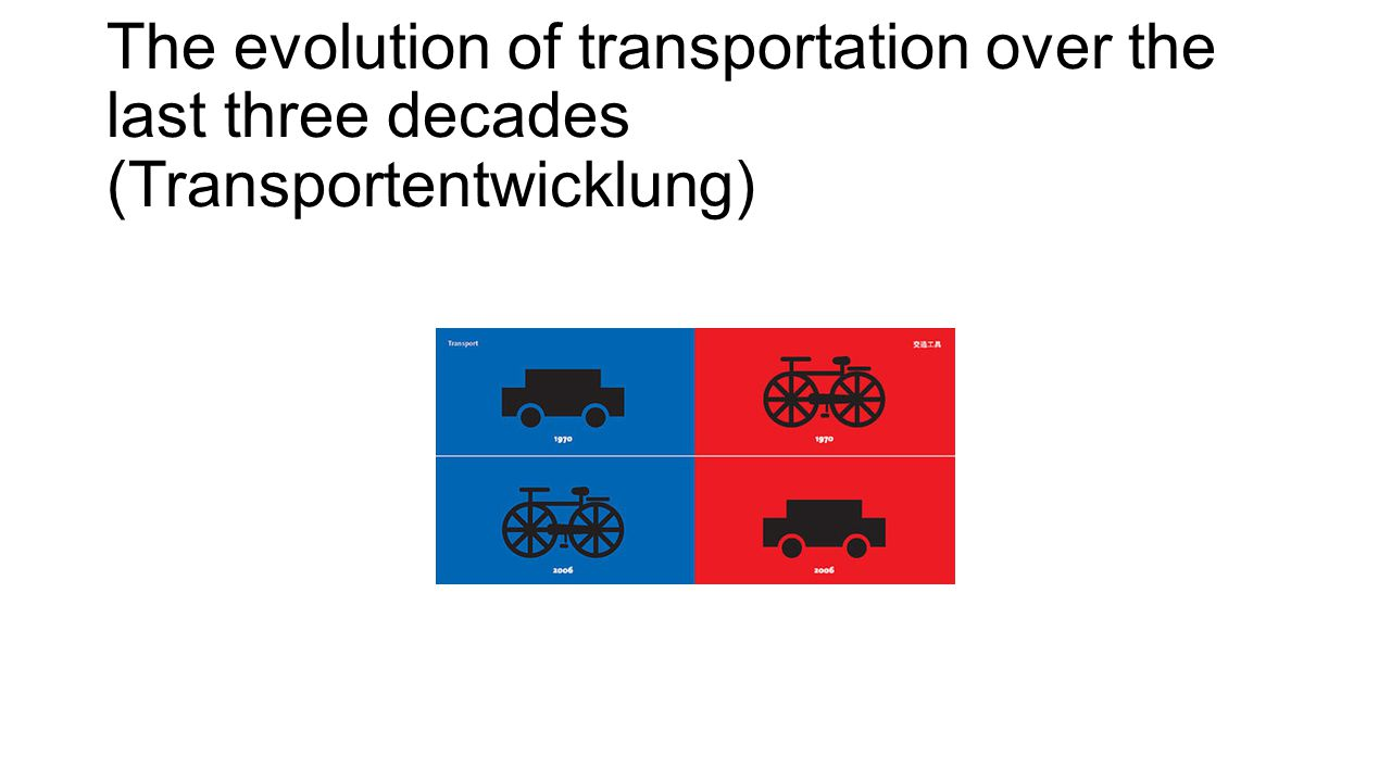 The evolution of transportation over the last three decades (Transportentwicklung)