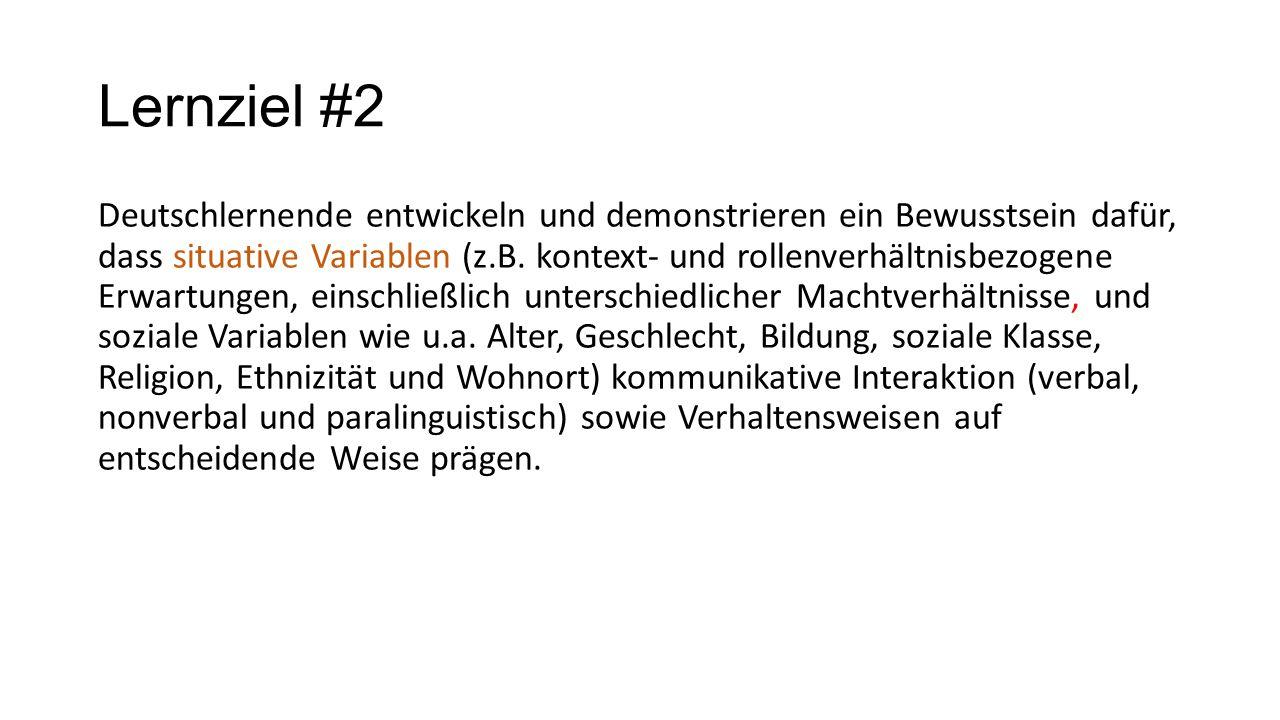 Lernziel #2