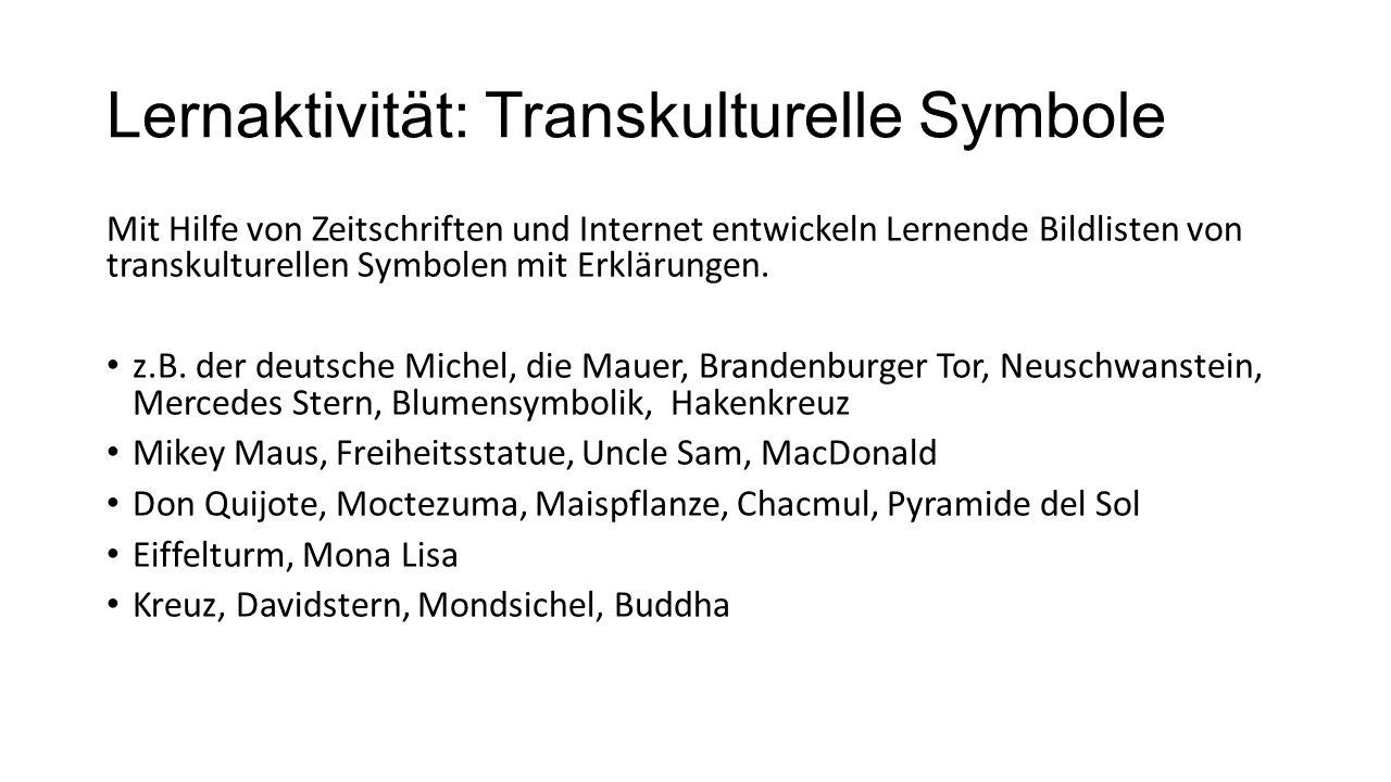 Lernaktivität: Transkulturelle Symbole