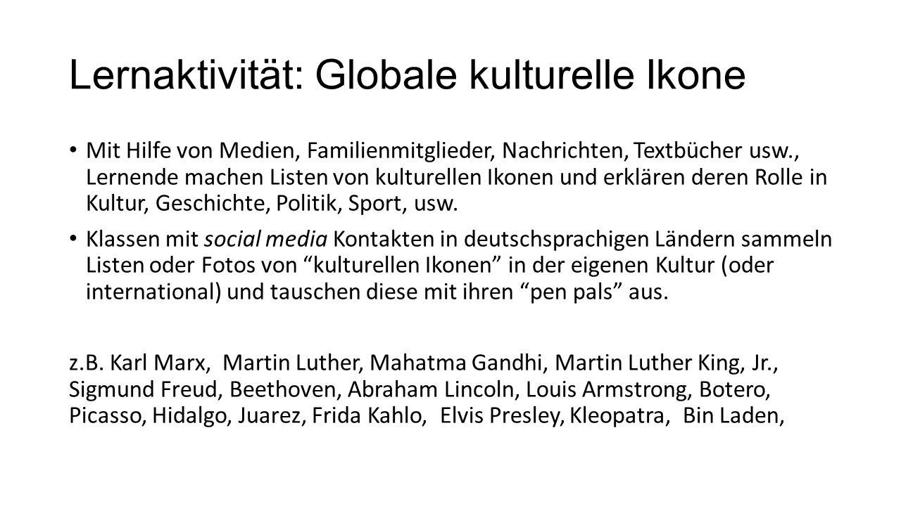 Lernaktivität: Globale kulturelle Ikone