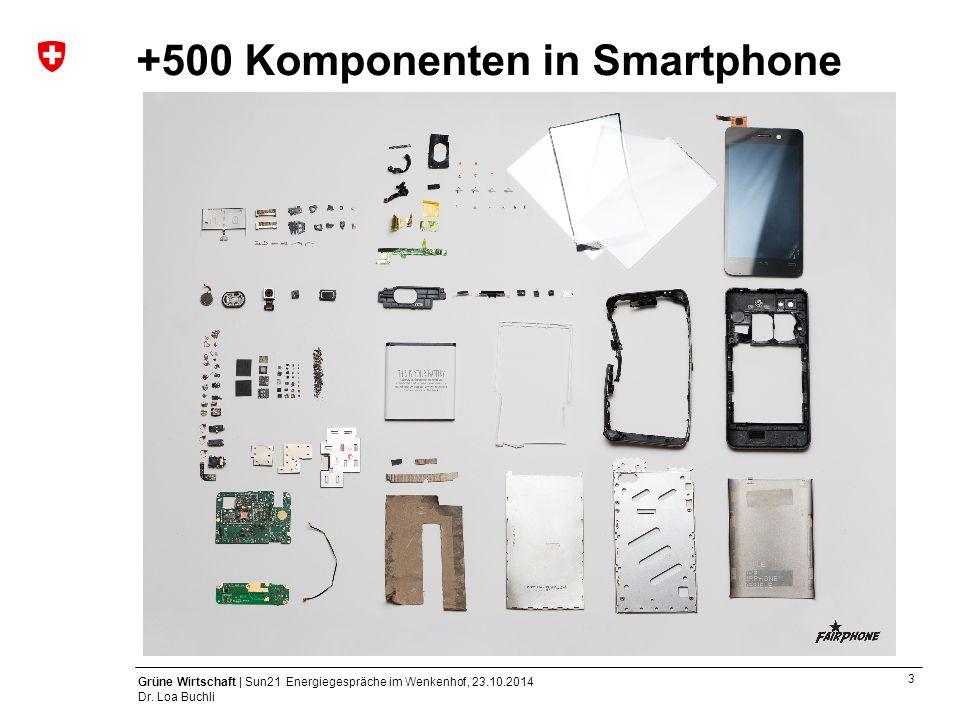 +500 Komponenten in Smartphone