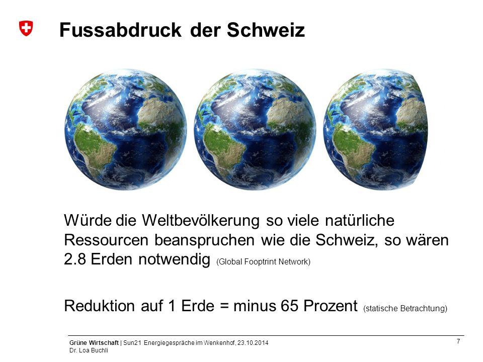 Fussabdruck der Schweiz