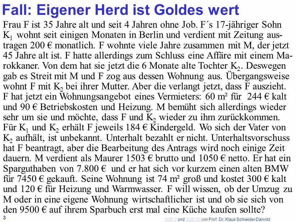 Fall: Eigener Herd ist Goldes wert