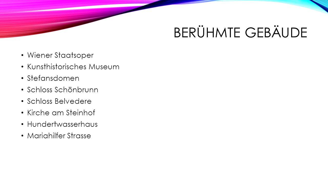 berühmte Gebäude Wiener Staatsoper Kunsthistorisches Museum