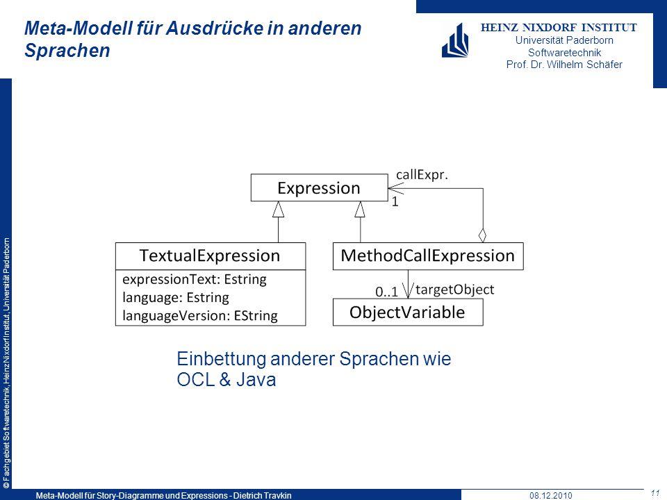 Meta-Modell für Ausdrücke in anderen Sprachen