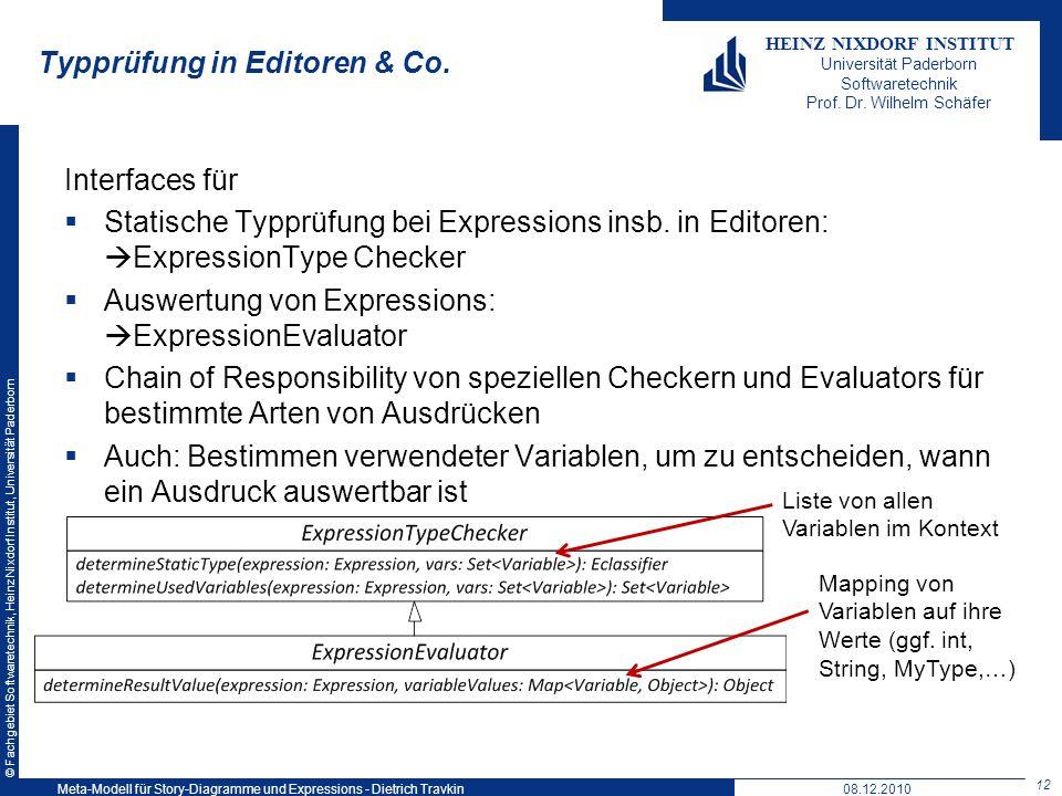 Typprüfung in Editoren & Co.