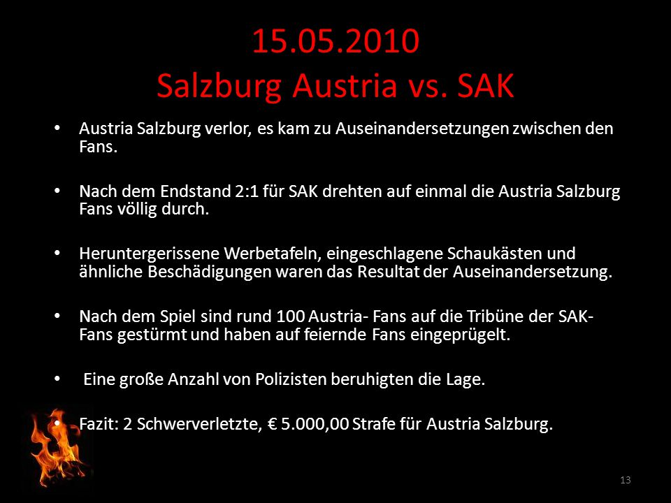 15.05.2010 Salzburg Austria vs. SAK