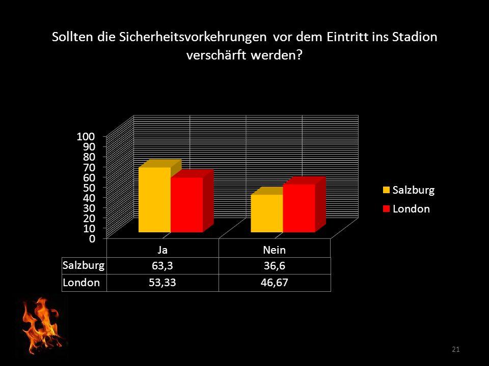 Sollten die Sicherheitsvorkehrungen vor dem Eintritt ins Stadion verschärft werden