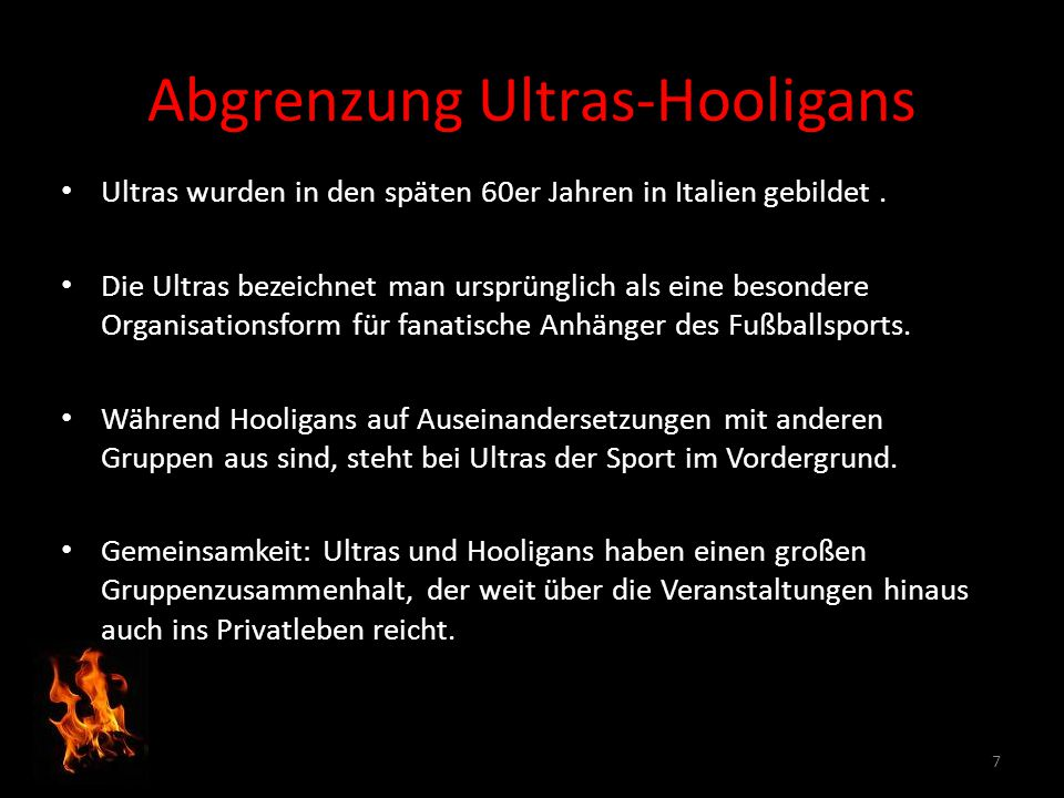 Abgrenzung Ultras-Hooligans