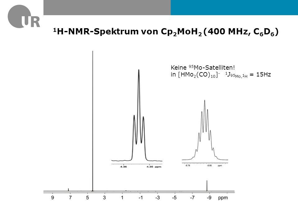 1H-NMR-Spektrum von Cp2MoH2 (400 MHz, C6D6)