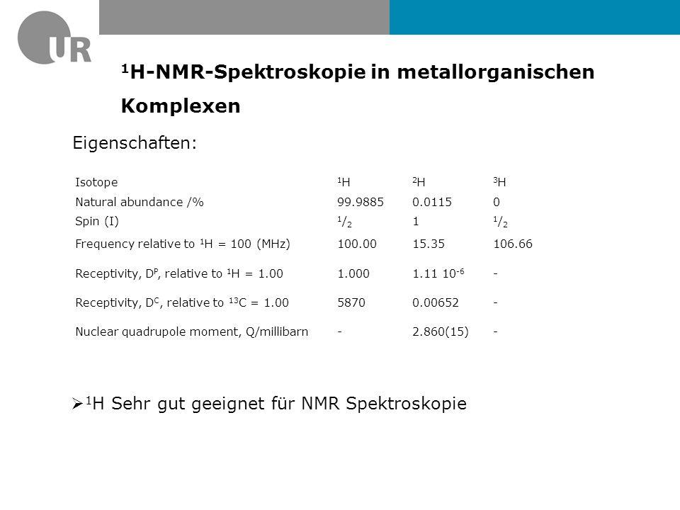 1H-NMR-Spektroskopie in metallorganischen Komplexen