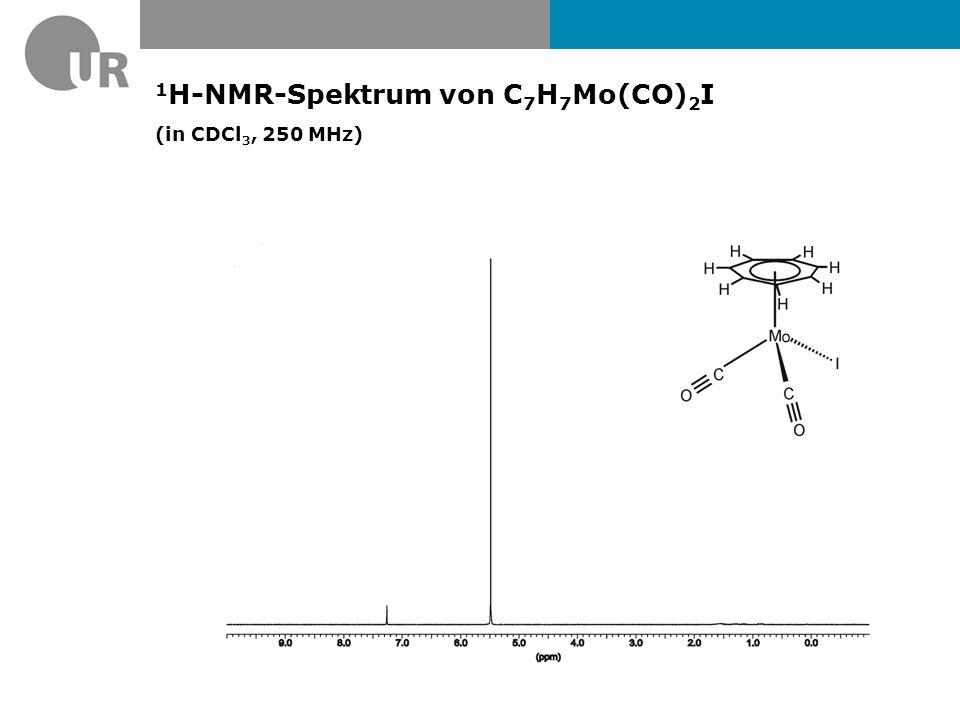 1H-NMR-Spektrum von C7H7Mo(CO)2I (in CDCl3, 250 MHz)