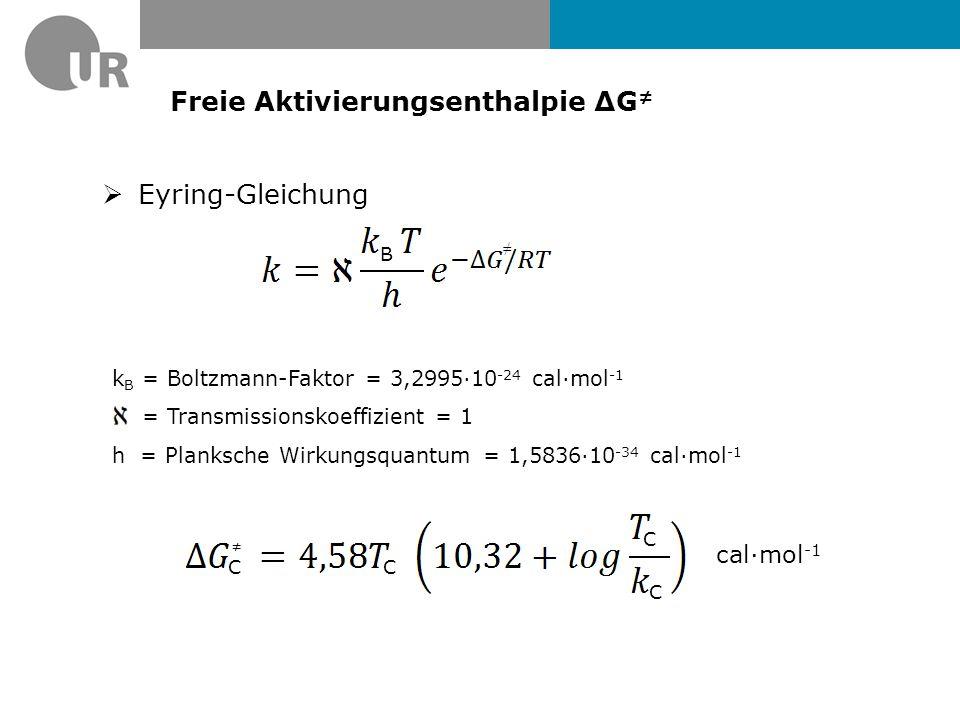 Freie Aktivierungsenthalpie ΔG≠