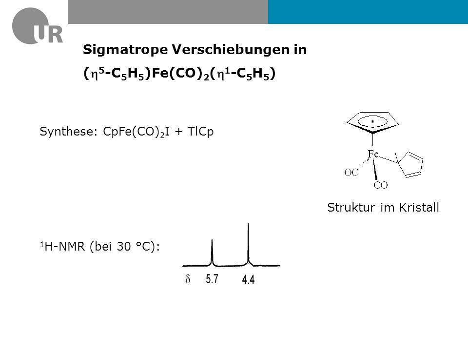Sigmatrope Verschiebungen in (h5-C5H5)Fe(CO)2(h1-C5H5)