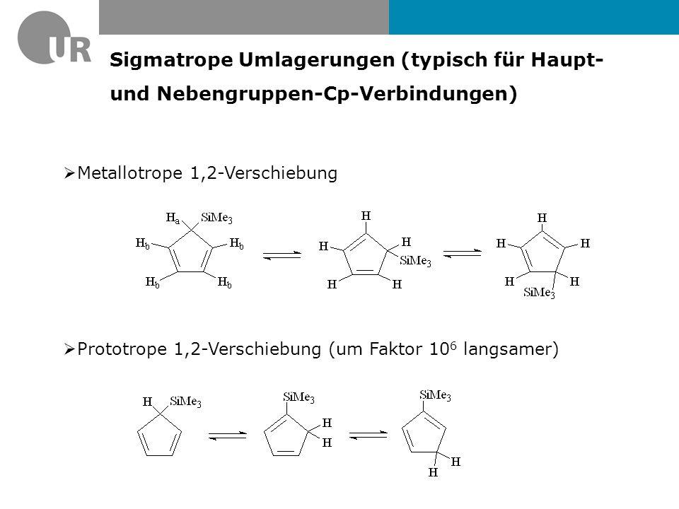 Sigmatrope Umlagerungen (typisch für Haupt- und Nebengruppen-Cp-Verbindungen)
