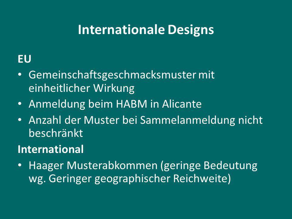 Internationale Designs