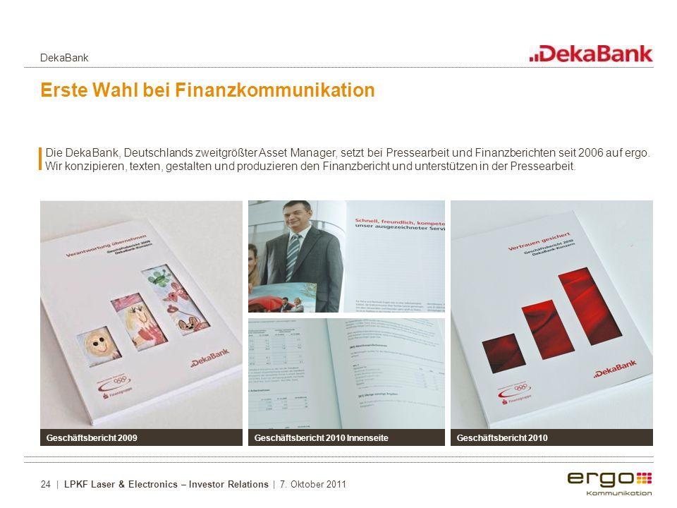 Erste Wahl bei Finanzkommunikation