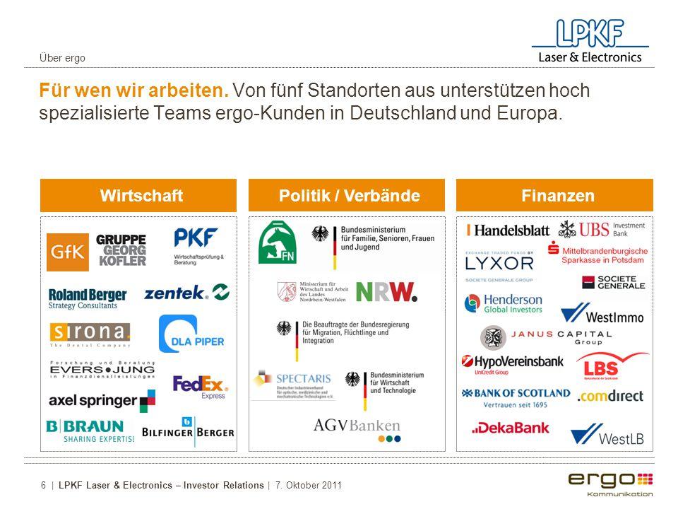 Über ergo Für wen wir arbeiten. Von fünf Standorten aus unterstützen hoch spezialisierte Teams ergo-Kunden in Deutschland und Europa.