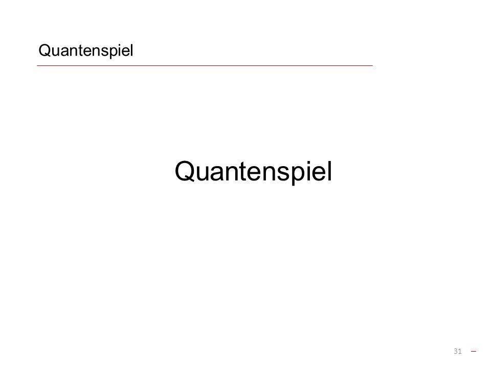 Quantenspiel Quantenspiel