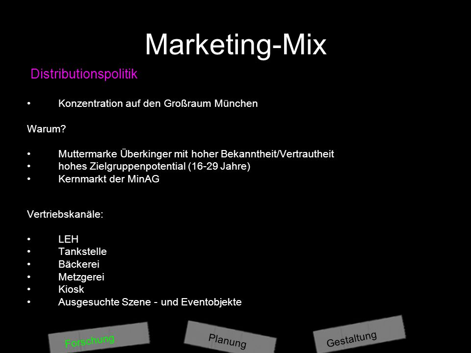 Marketing-Mix Distributionspolitik