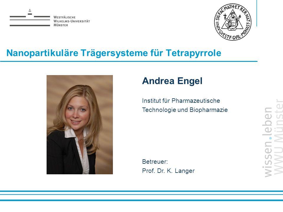 Nanopartikuläre Trägersysteme für Tetrapyrrole