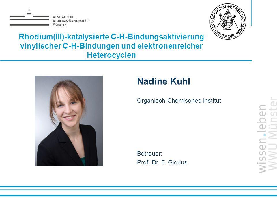 Rhodium(III)-katalysierte C-H-Bindungsaktivierung vinylischer C-H-Bindungen und elektronenreicher Heterocyclen