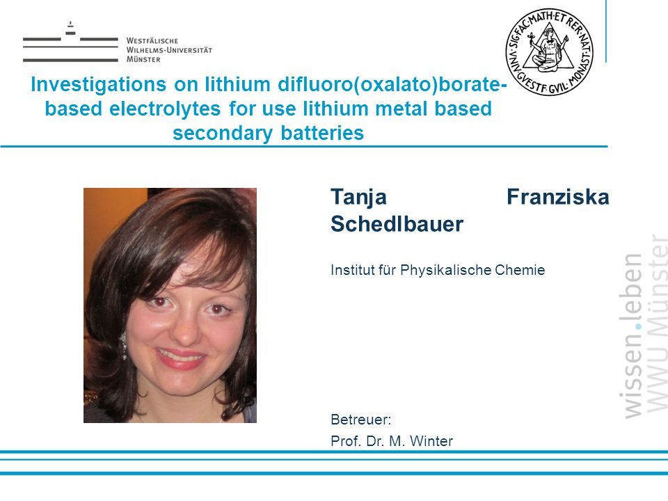 Tanja Franziska Schedlbauer