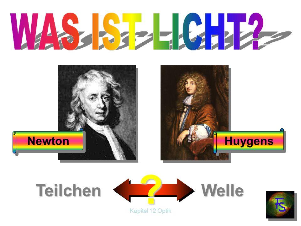 WAS IST LICHT Newton Huygens Teilchen Welle Kapitel 12 Optik