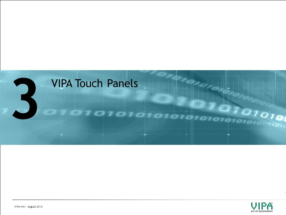 3 VIPA Touch Panels