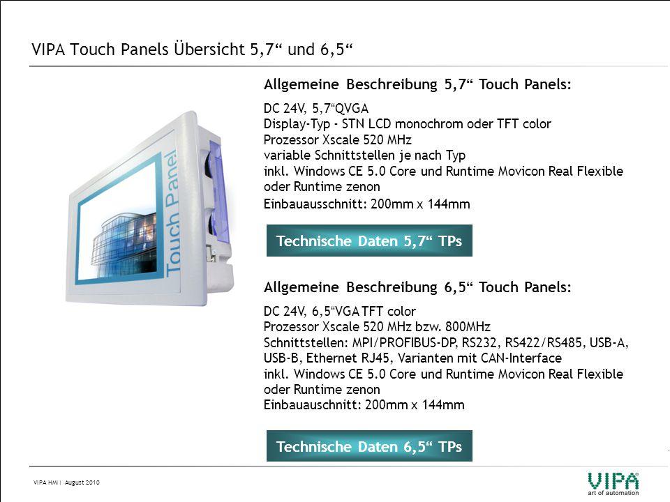 VIPA Touch Panels Übersicht 5,7 und 6,5