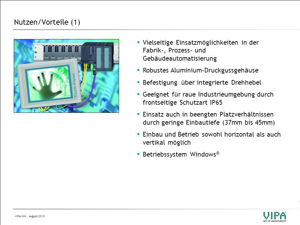 Nutzen/Vorteile (1) Vielseitige Einsatzmöglichkeiten in der Fabrik-, Prozess- und Gebäudeautomatisierung.