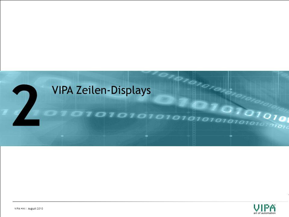 2 VIPA Zeilen-Displays