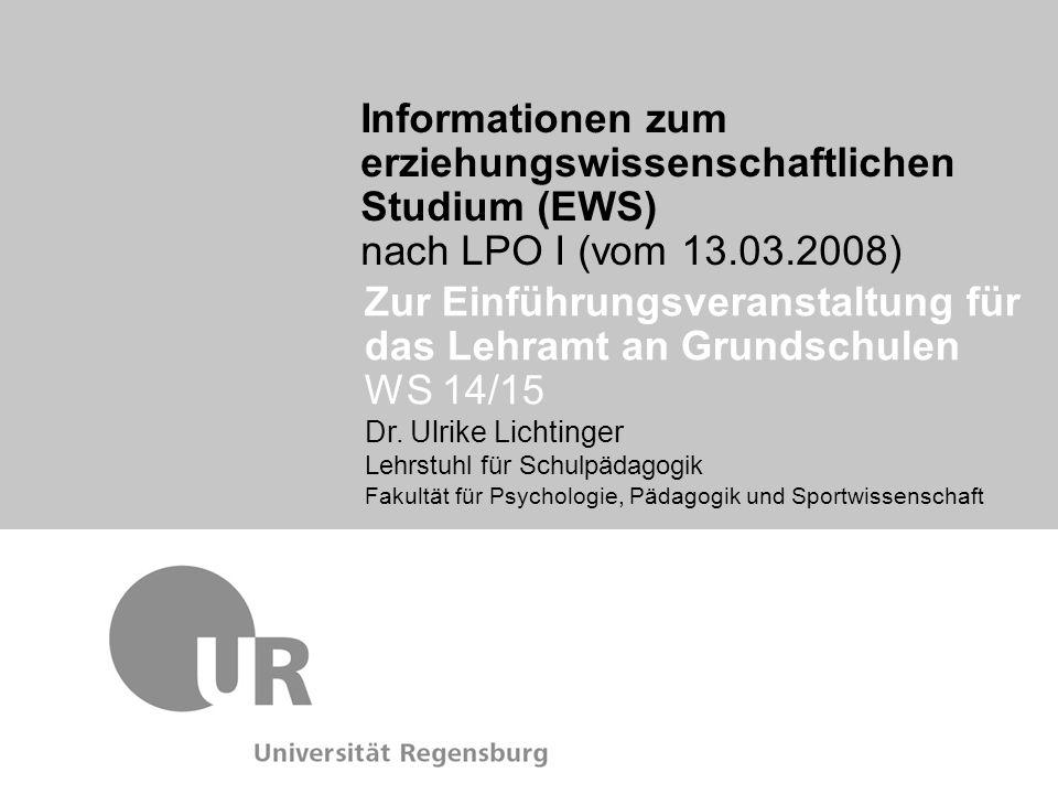 Zur Einführungsveranstaltung für das Lehramt an Grundschulen WS 14/15