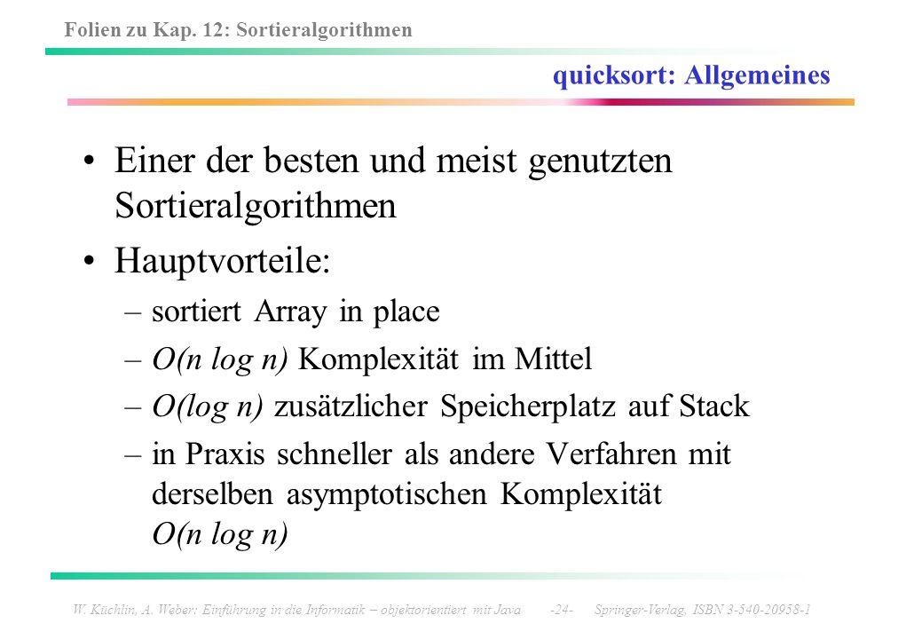 quicksort: Allgemeines