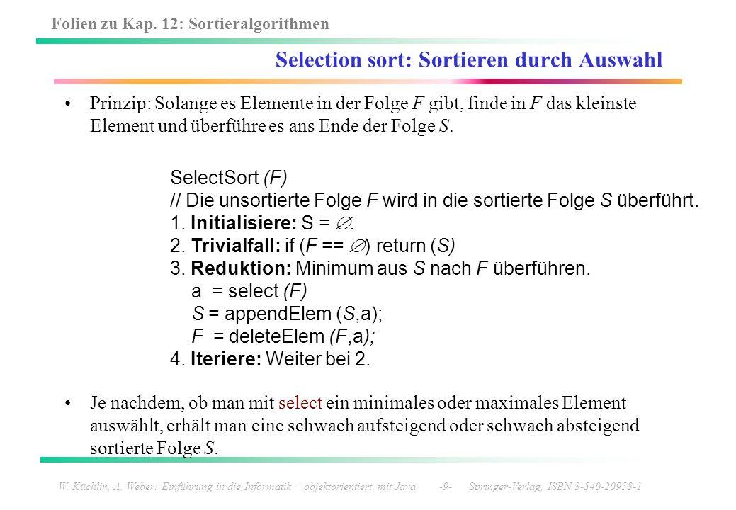 Selection sort: Sortieren durch Auswahl