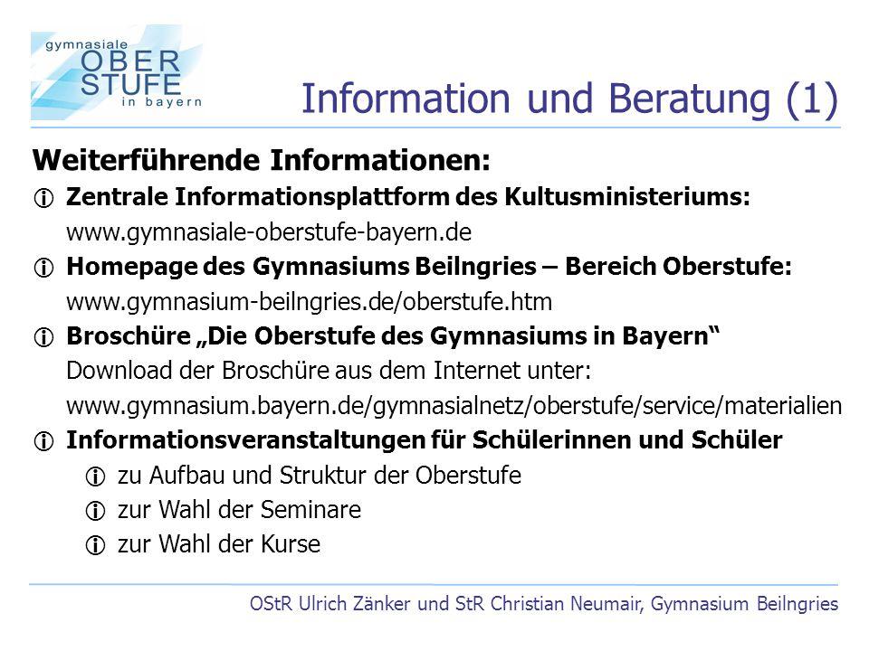 Information und Beratung (1)