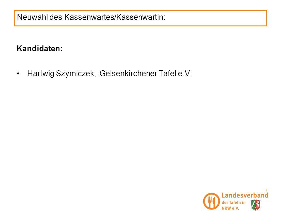 Neuwahl des Kassenwartes/Kassenwartin: