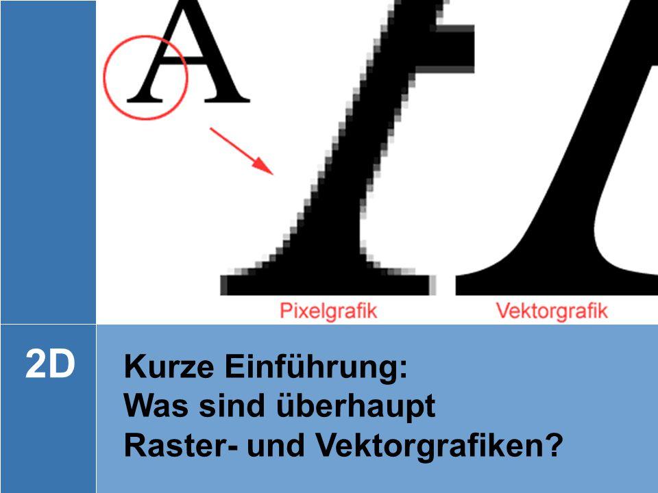 2D Kurze Einführung: Was sind überhaupt Raster- und Vektorgrafiken