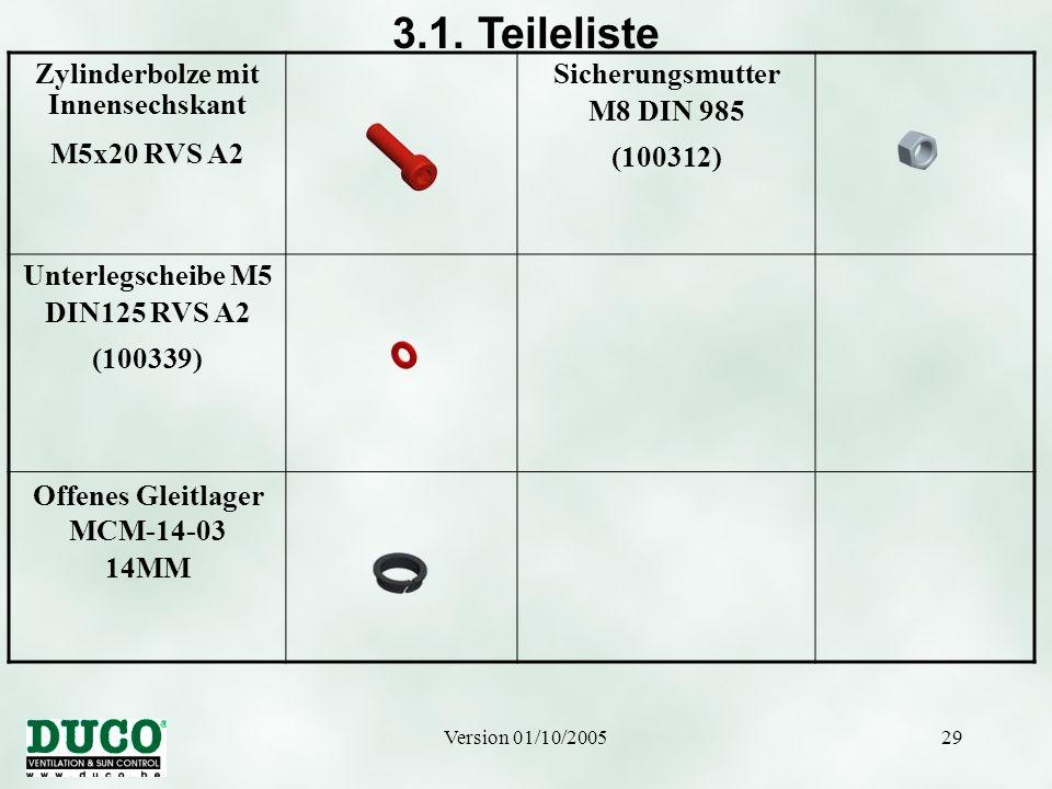 Zylinderbolze mit Innensechskant Offenes Gleitlager MCM-14-03