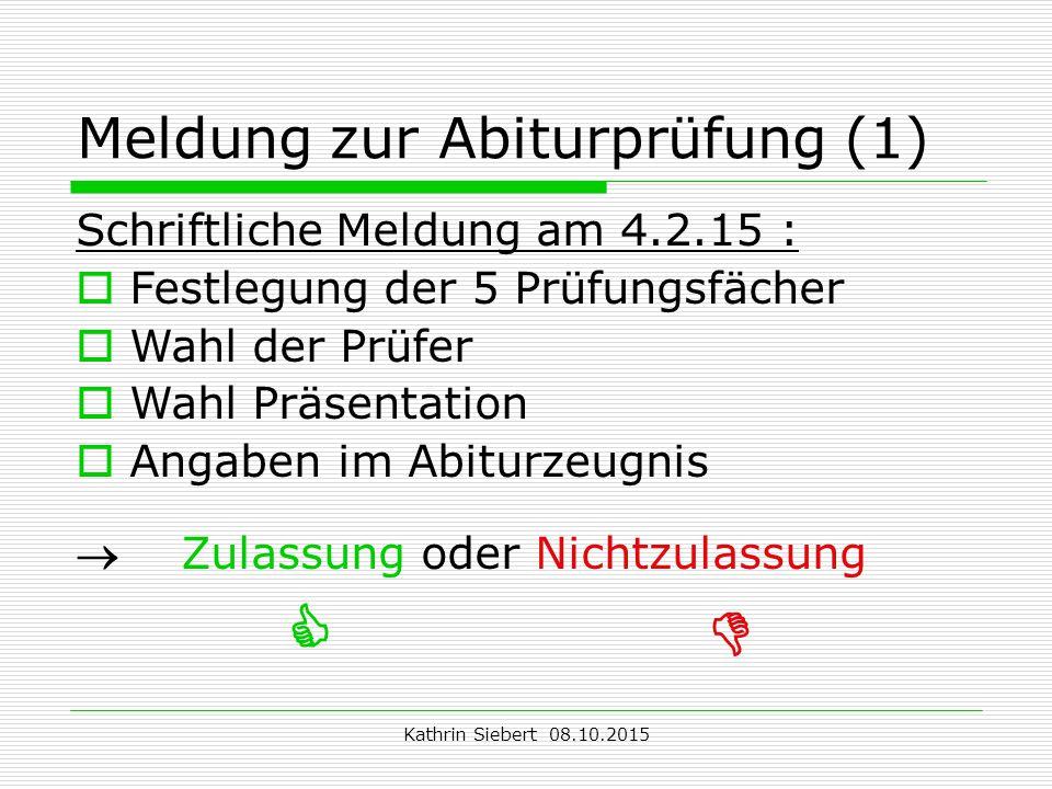 Meldung zur Abiturprüfung (1)
