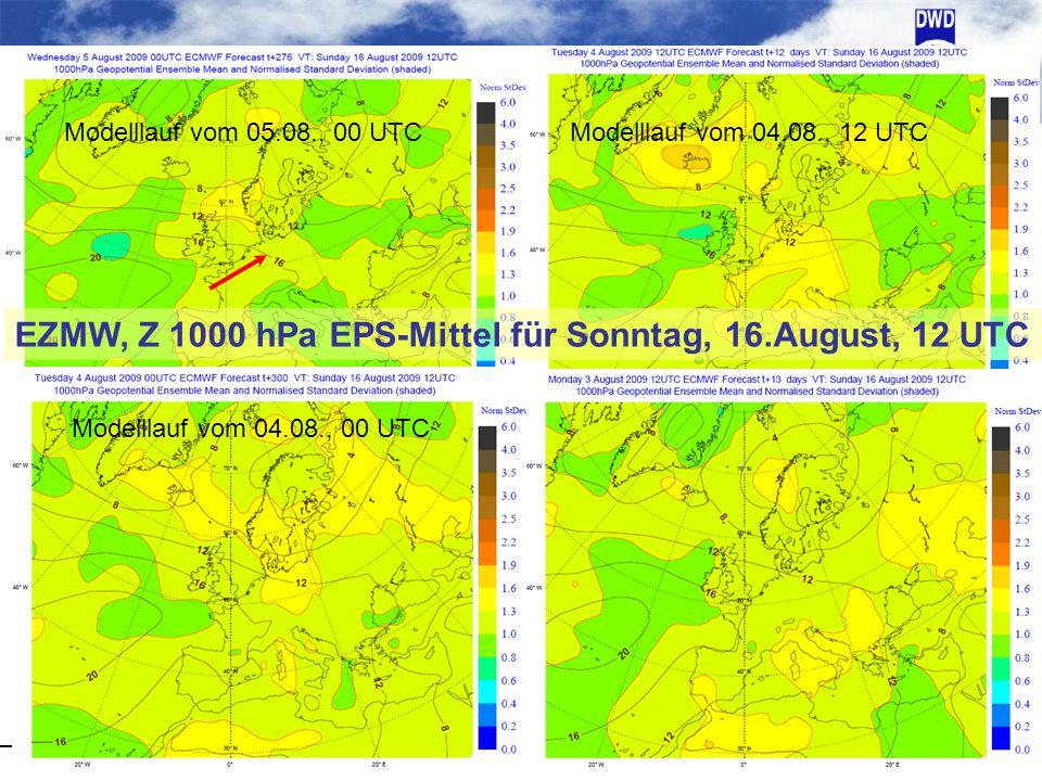 EZMW, Z 1000 hPa EPS-Mittel für Sonntag, 16.August, 12 UTC