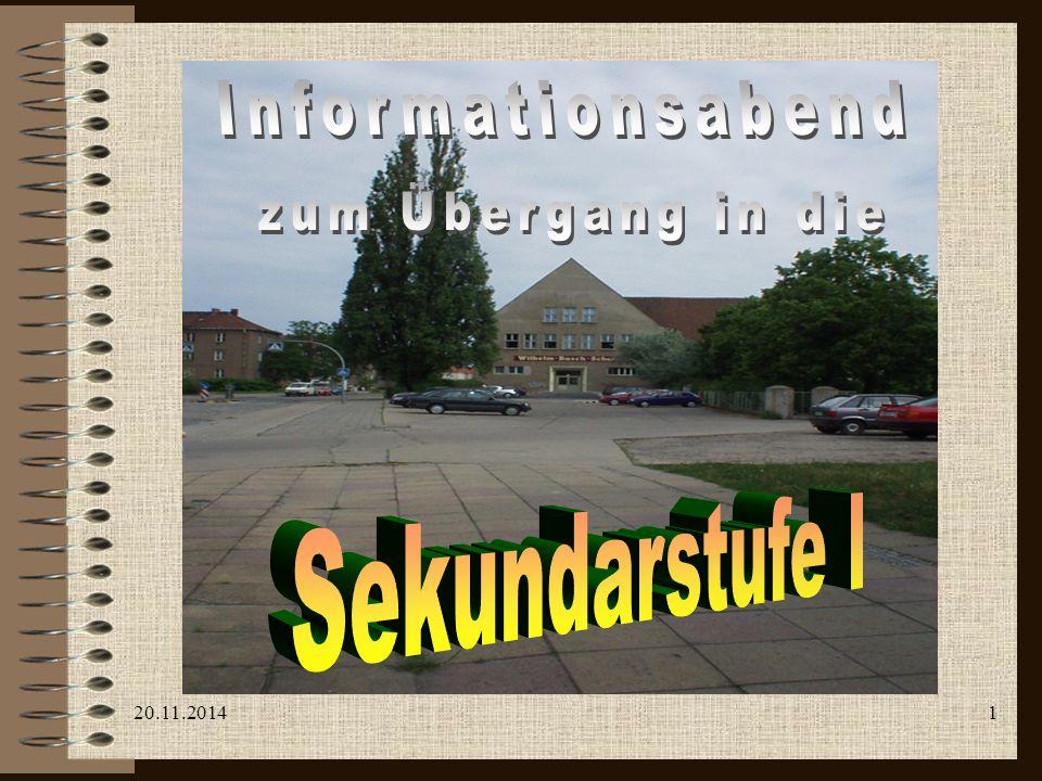 Informationsabend zum Übergang in die Sekundarstufe I 07.04.2017