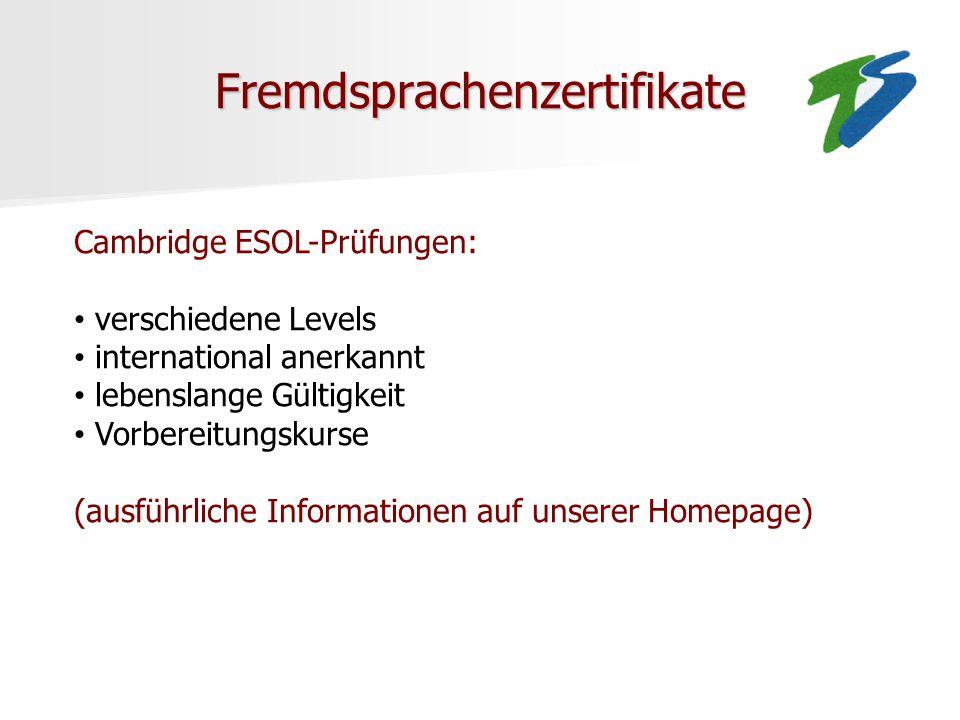Fremdsprachenzertifikate