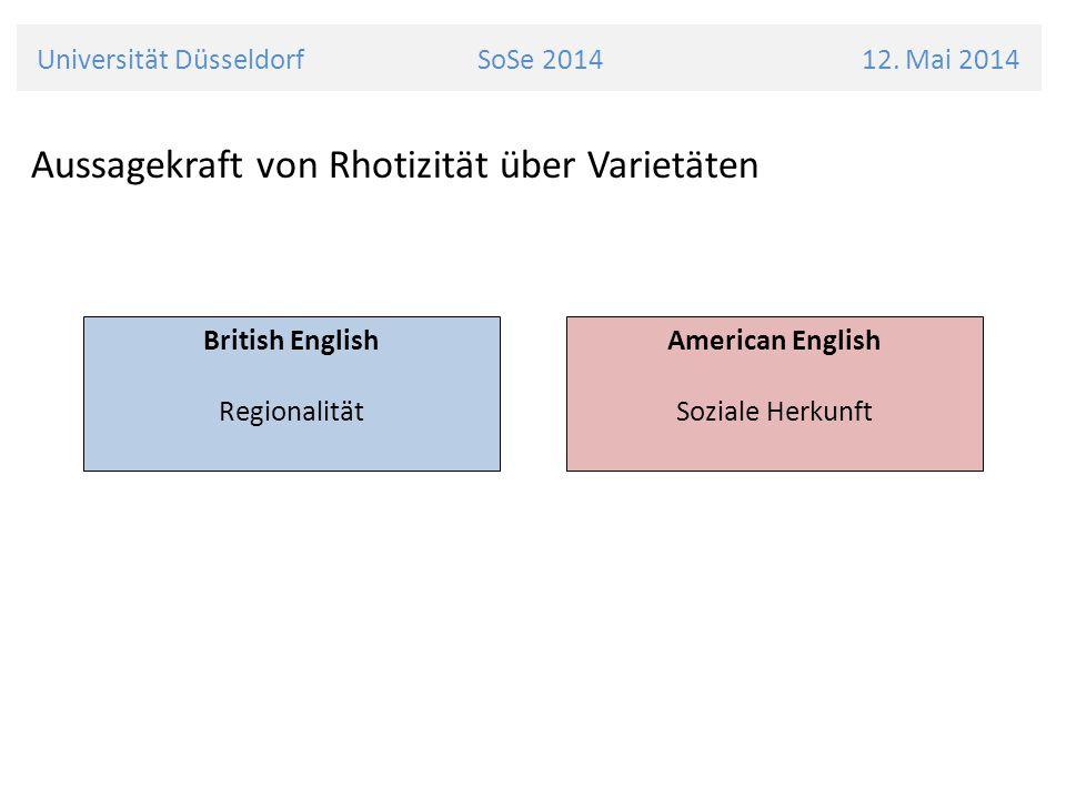Universität Düsseldorf SoSe 2014 12. Mai 2014