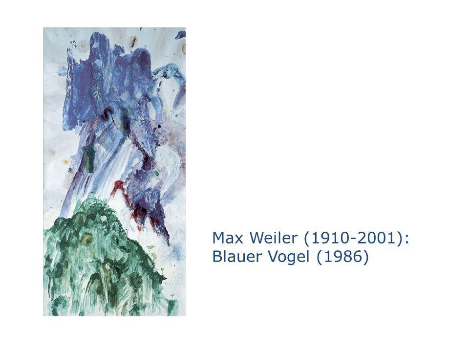 Max Weiler (1910-2001): Blauer Vogel (1986)
