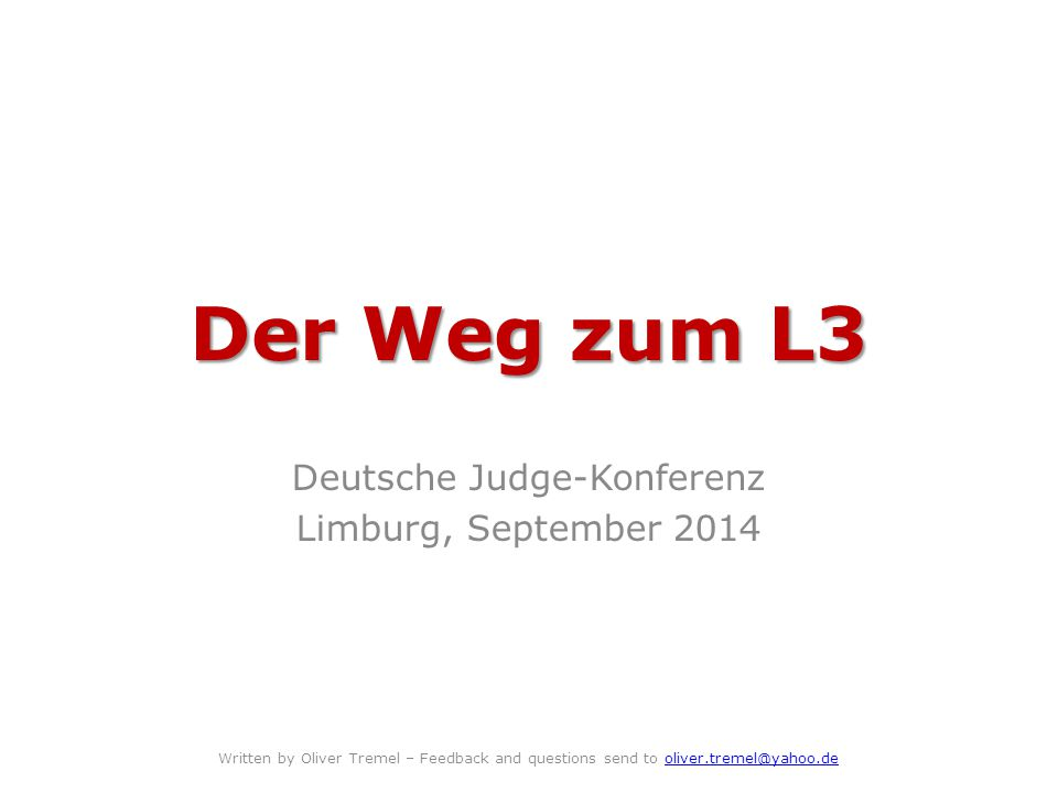 Deutsche Judge-Konferenz Limburg, September 2014