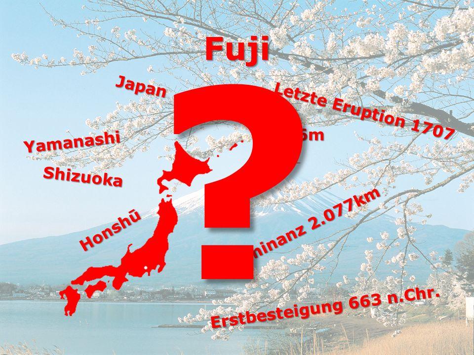Fuji Japan Letzte Eruption 1707 3.776m Yamanashi Shizuoka